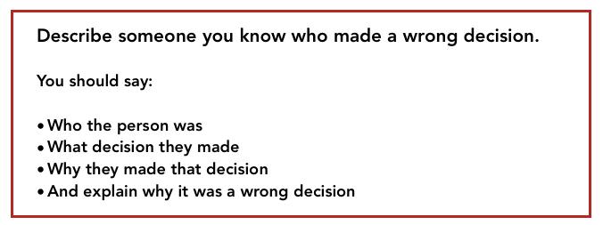 bad decision ielts