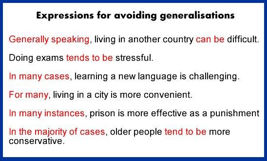 generalisations-ielts