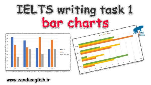 نمونه رایتینگ bar chart