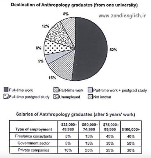 pie chart anthropology graduates